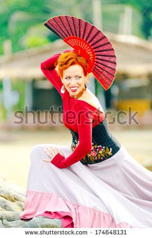 e0d49e9a5095 ... attractive , Beautiful , beauty , carmen , caucasian , cheerful ,  classical , clothing , Color Image , Color Images , costume , dance , dancer  , dress ...